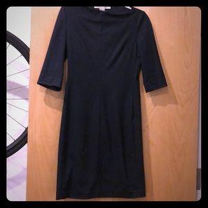 Navy dvf sheath dress